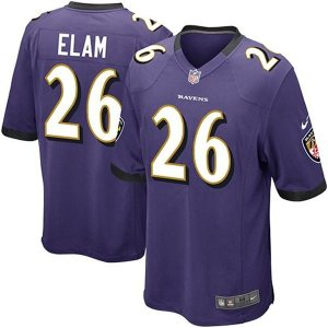 Matt Elam Baltimore Ravens Nike Team Color Game Jersey