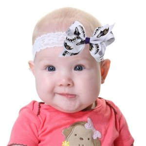 Baltimore Ravens Lace and Bow Toddler Headband
