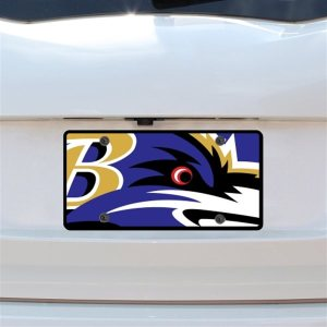 Baltimore Ravens Mega Acrylic License Plate