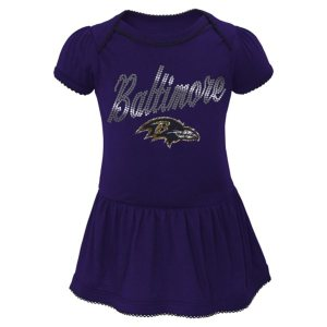 Baltimore Ravens Newborn Girls Dazzle Creeper Attached Skirt
