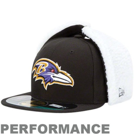 Baltimore Ravens OnField Dog Ear 59FIFTY NE Tech Fitted Hat