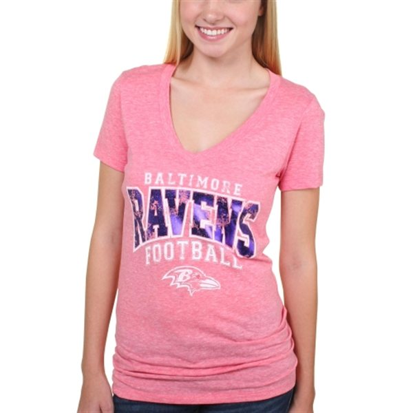 Baltimore ravens pink breast cancer awareness tshirt b for Breast cancer nfl shirts