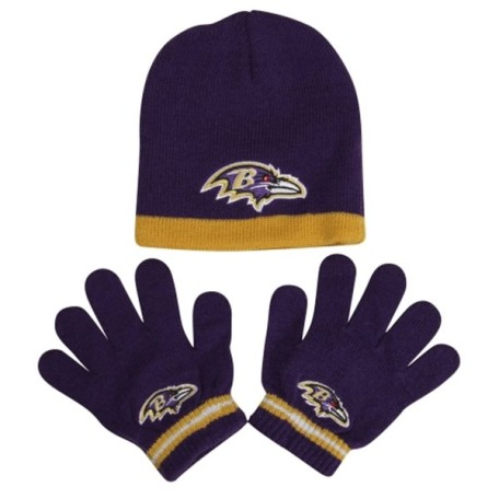 Baltimore Ravens Preschool Knit Hat with Gloves Set