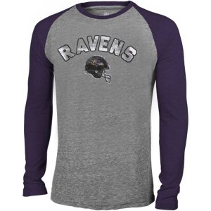 Baltimore Ravens Preschool Washed Wordmark TriBlend Long Sleeve TShirt