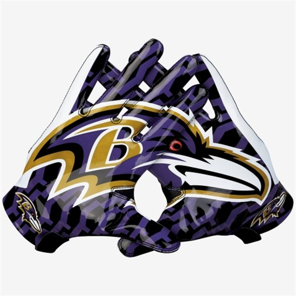 dffff5b6179e17 Baltimore Ravens Vapor Fly Team Authentic Series Gloves – B'More Fan ...
