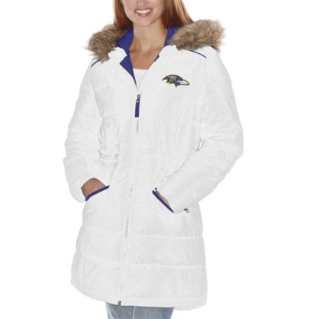 Baltimore Ravens White Faceoff Parka