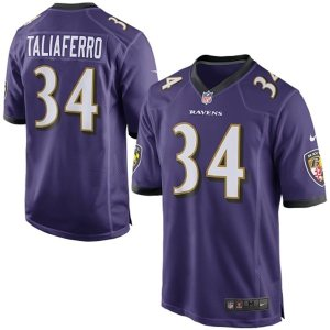 Mens Baltimore Ravens Lorenzo Taliaferro Nike Purple Game Jersey