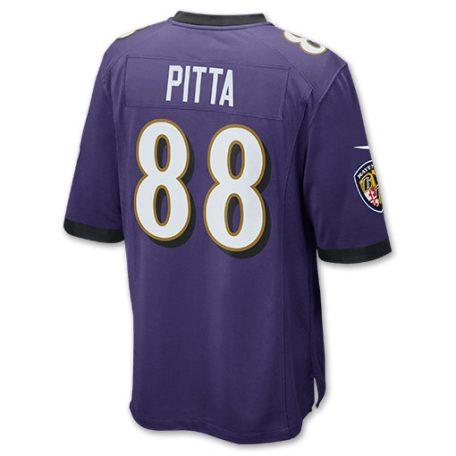 Mens Nike Baltimore Ravens NFL Dennis Pitta Game Jersey