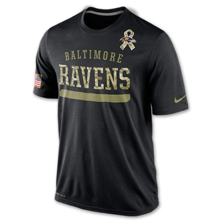 Mens Nike Baltimore Ravens NFL Salute To Service TShirt