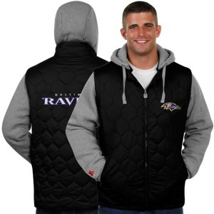 Pro Line Baltimore Ravens Midnight Sleeper Full Zip Jacket