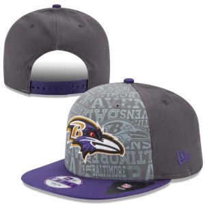 Youth Graphite Baltimore Ravens NFL Draft 9FIFTY Snapback Hat
