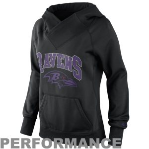 Baltimore Ravens Nike Ladies Wildcard All-Time Performance Hoodie