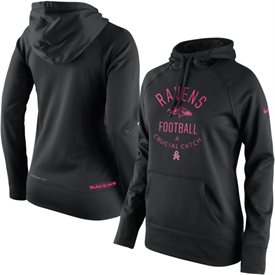 Baltimore Ravens Nike Women's Breast Cancer Awareness Hoodie – Black