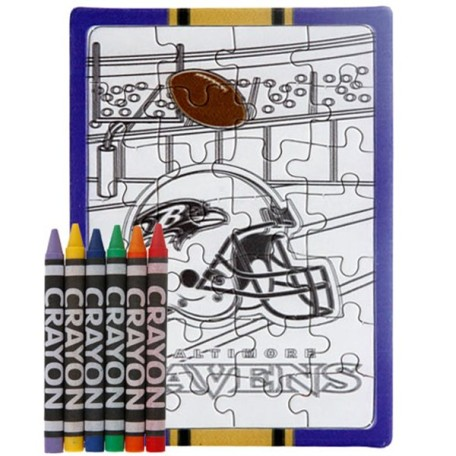 Baltimore Ravens Color Your Own Puzzle & Crayons Set