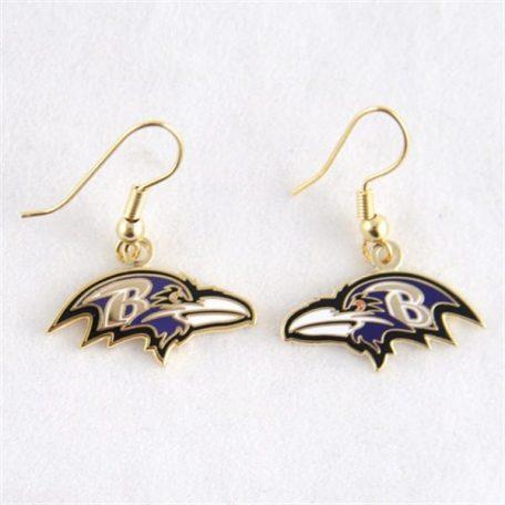 Baltimore Ravens Logo Wire Earrings