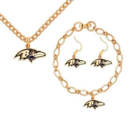 Baltimore Ravens WinCraft Jewelry Gift Set
