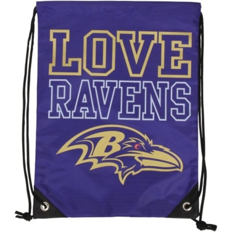 Baltimore Ravens Womens Love Drawstring Backpack