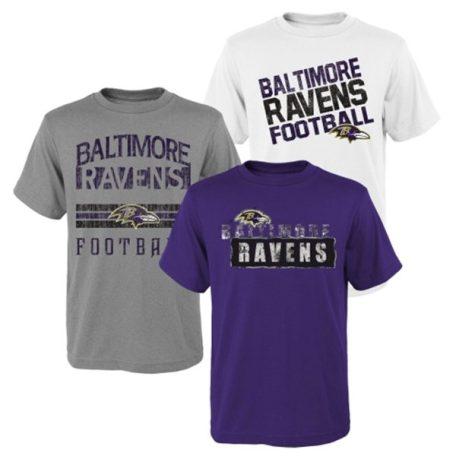 Baltimore Ravens Youth 3Piece TShirt Set
