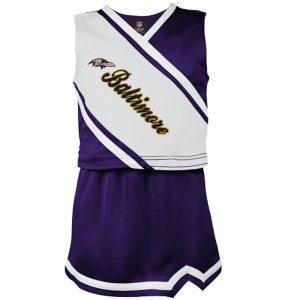 Baltimore Ravens Youth Girls Team Spirit 2Piece Cheerleader Set
