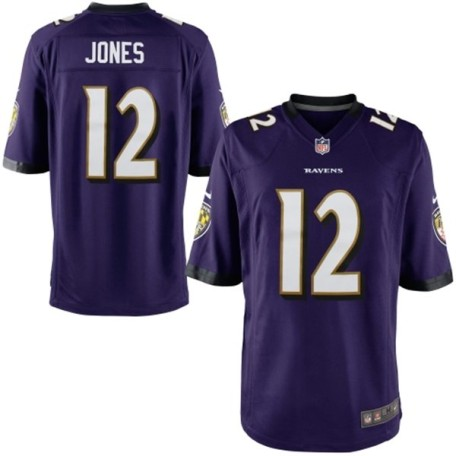 Jacoby Jones Baltimore Ravens Nike Youth Team Color Game Jersey
