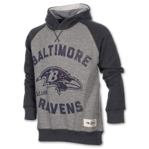 Kids Baltimore Ravens NFL Faded Arch Pullover Hoodie