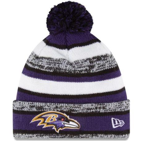 New Era Purple OnField Sport Sideline Cuffed Knit Hat